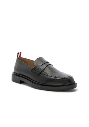 Thom Browne Rubber Sole Loafer in Black - Black. Size 9 (also in 10, 10.5, 9.5).