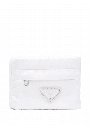 Prada knitted pouch wallet - White