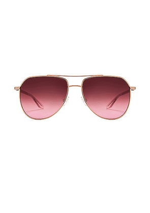 Barton Perreira Voltaire Sunglasses in Rose Gold & Desert Lilac - Pink. Size all.