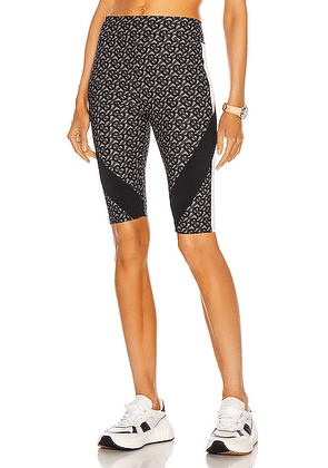 Burberry Andrea Paneled Cycling Short in Graphite - Abstract,Gray. Size XXS (also in M, XS).