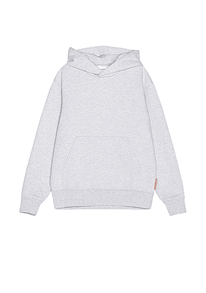 Acne Studios Forres Pink Label Hoodie in Pale Grey Melange. Size S (also in L, M, XL, XS).