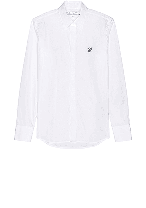 OFF-WHITE Hand Off Classic Shirt in White - White. Size S (also in L, M).