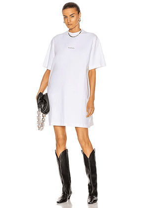 Acne Studios Oversized T-Shirt Dress in Optic White - White. Size XS (also in L, M, S).