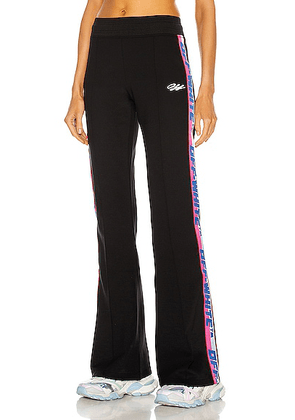 OFF-WHITE Athleisure Track Pant in Black & White - Black. Size XS (also in L, M, S).