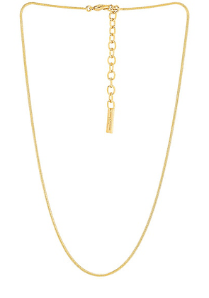 Saint Laurent Snake Chain Necklace in Gold - Metallic Gold. Size M (also in ).