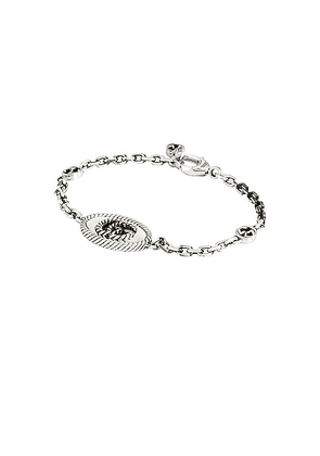 Gucci GG Marmont Bracelet in Aged Silver - Metallic Silver. Size 17 (also in 16, 18, 19).