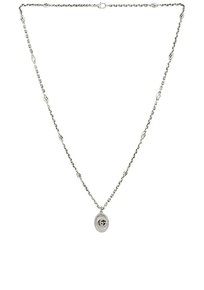 Gucci GG Marmont Necklace in Aged Silver - Metallic Silver. Size all.