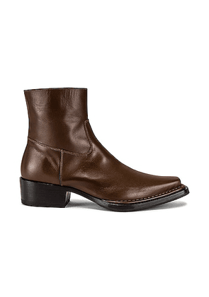 Acne Studios Ankle Boot in Dark Brown - Brown. Size 42 (also in 41, 43, 44).