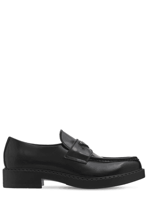 Logo Leather Loafers