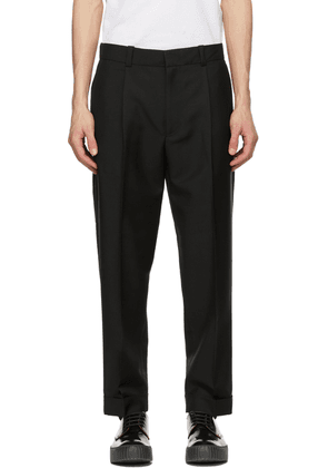 Acne Studios Black Wool & Mohair Tapered Trousers