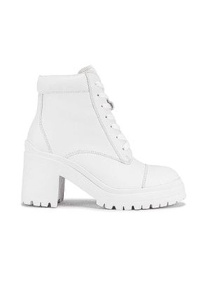 Jeffrey Campbell Chugiak Boot in White. Size 6.5, 7.5, 8, 8.5, 9, 9.5, 10.