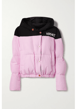 Versace - Hooded Quilted Shell Down Jacket - Pink