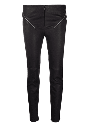 Givenchy zip-detail leather leggings - Black