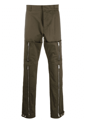 Givenchy zip-detail straight trousers - Green