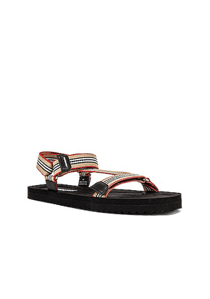 Burberry Patterson Webbing Sandal in Archive Beige - Neutral,Stripes. Size 45 (also in ).