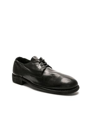Guidi Full Grain Leather Donkey Classic Derbies in Black - Black. Size 41 (also in 42, 43, 44, 45).