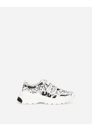 Dolce & Gabbana Collection - Nappa leather Daymaster sneakers with graffiti print Multicolor male 27