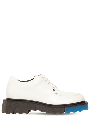40mm Brushed Leather Lace-up Shoes