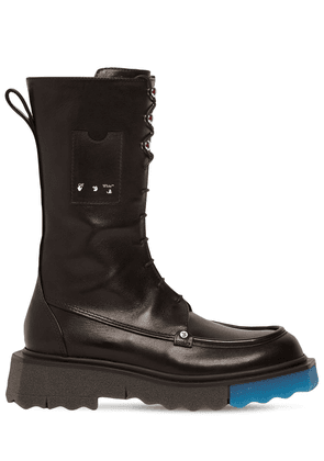 40mm Leather Combat Boots