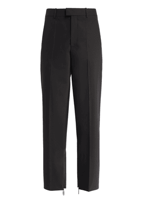 Paperclip Zip Tailored Wool Blend Pants