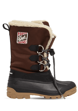Nylon Duck Snow Boots W/ Patch