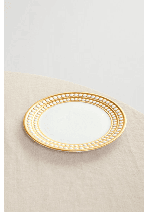 L'Objet - Perlée 17cm Gold-plated Porcelain Bread And Butter Plate - White