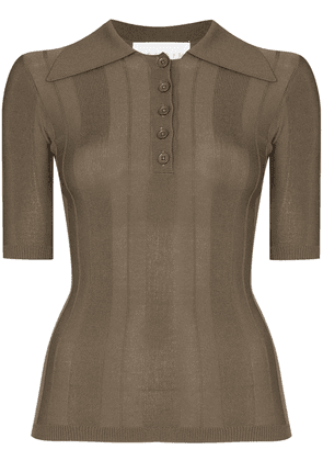 REMAIN straight-point collar polo shirt - 19-0822 MILITARY OLIVE
