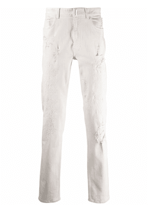 Givenchy distressed-effect slim-fit jeans - White