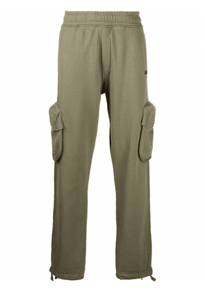 Off-White patch-pocket track pants - Green