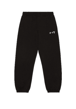 OFF-WHITE OW Logo Sweatpants in Black - Black. Size S (also in ).