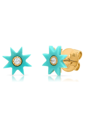 The Alkemistry Colette Yg Turquoise Star Studs (pair)