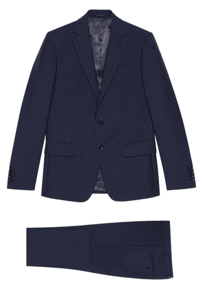Gucci slim-fit single-breasted suit - Blue