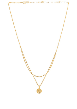 petit moments Vibes Necklace in Metallic Gold.
