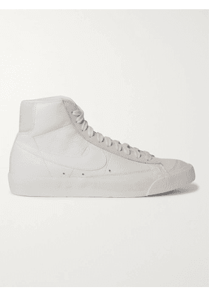 Nike - Blazer Mid '77 Vintage Suede-Trimmed Leather High-Top Sneakers - Men - White - US 7.5