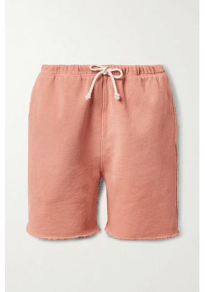 RE/DONE - + Hanes 80s Frayed Cotton-jersey Shorts - Coral