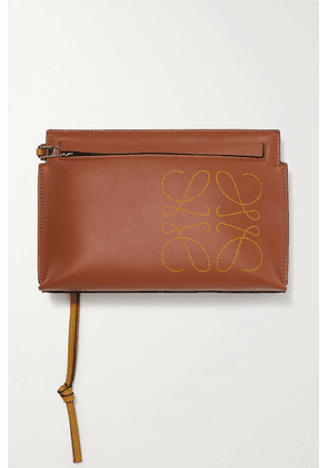 Loewe - T-pouch Mini Perforated Leather Clutch - Tan