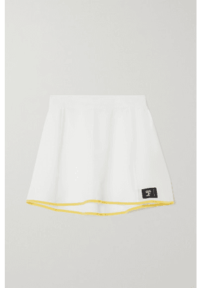 FULL COURT SPORT - Perforated Stretch-jersey Tennis Skirt - White