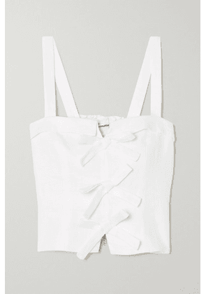 Reformation - Sedgwick Bow-detailed Linen Top - White