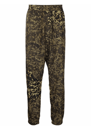 Givenchy leopard-print trousers - Green