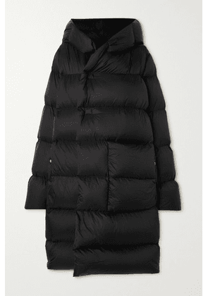 Rick Owens - Hooded Quilted Shell Down Coat - Black