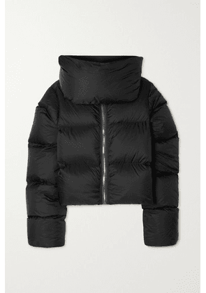 Rick Owens - Cropped Quilted Shell Down Jacket - Black