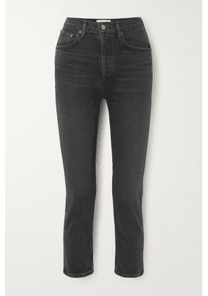 AGOLDE - Riley Cropped High-rise Straight-leg Jeans - Black