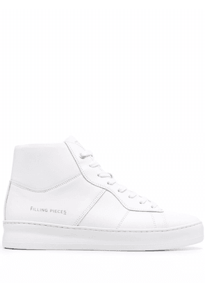 Filling Pieces high-top panelled leather sneakers - White