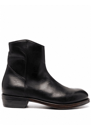 Ajmone zip-up leather ankle-boots - Black
