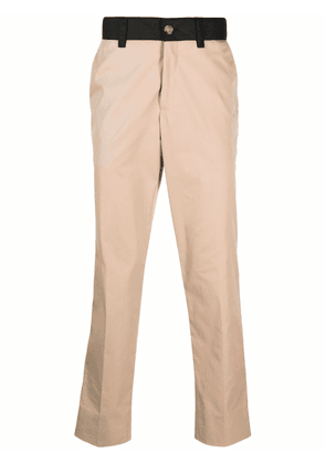 Burberry side stripe chino trousers - Neutrals