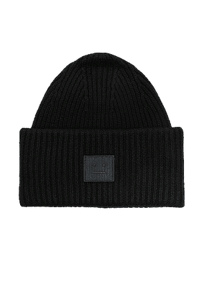 Acne Studios Pansy Face Beanie in Black - Black. Size all.