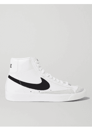 Nike - Blazer Mid '77 Suede-Trimmed Leather Sneakers - Men - White - 5