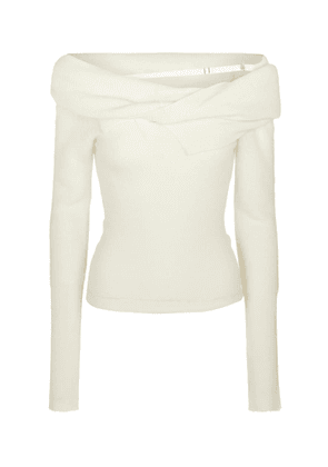 La Maille Ascua mohair and wool-blend sweater