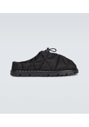 Quilted Re-Nylon mules