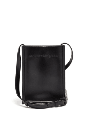 Alexander Mcqueen - Logo-embroidered Leather Cross-body Bag - Mens - Black